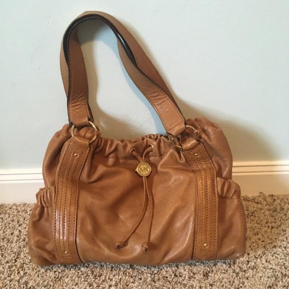 a52e32ef6ed MK soft leather shoulder bag